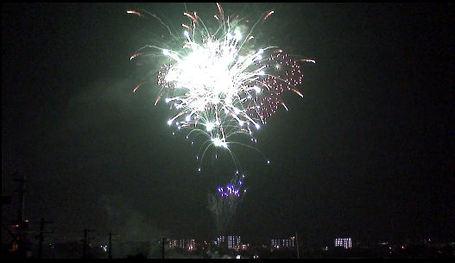 ハイビジョンで撮影した花火。その2